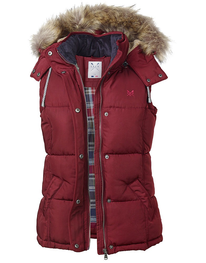 Vesta puf Crew Clothing Sterling Gilet