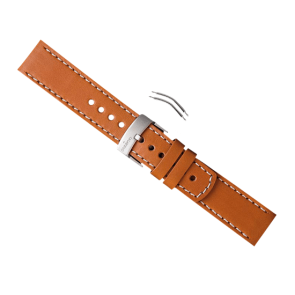 CUREA SUUNTO ELEMENTUM TERRA - brown leather strap