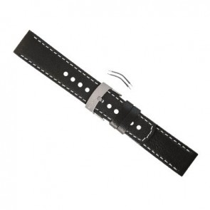 CUREA SUUNTO ELEMENTUM TERRA - black leather strap